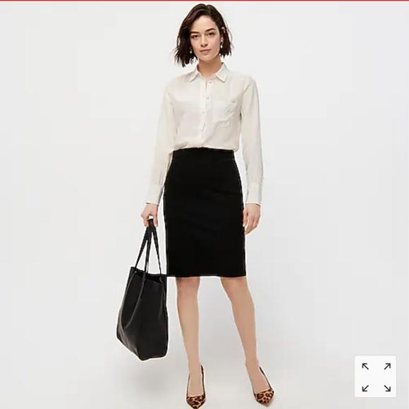 "J. Crew black ""the pencil skirt"""
